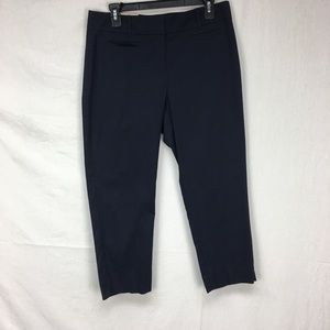 Ann Taylor Navy Kate Fit Cropped Pants